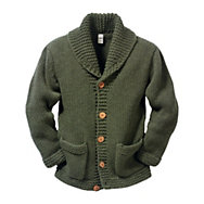 Schalkragen-Strickjacke | Strickwaren