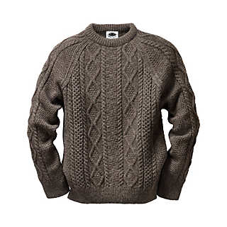 Black Sheep Aran-Pullover | Strickwaren