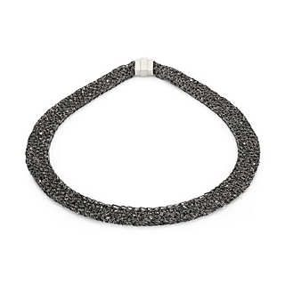 Collier gestricktes Silber | Accessoires
